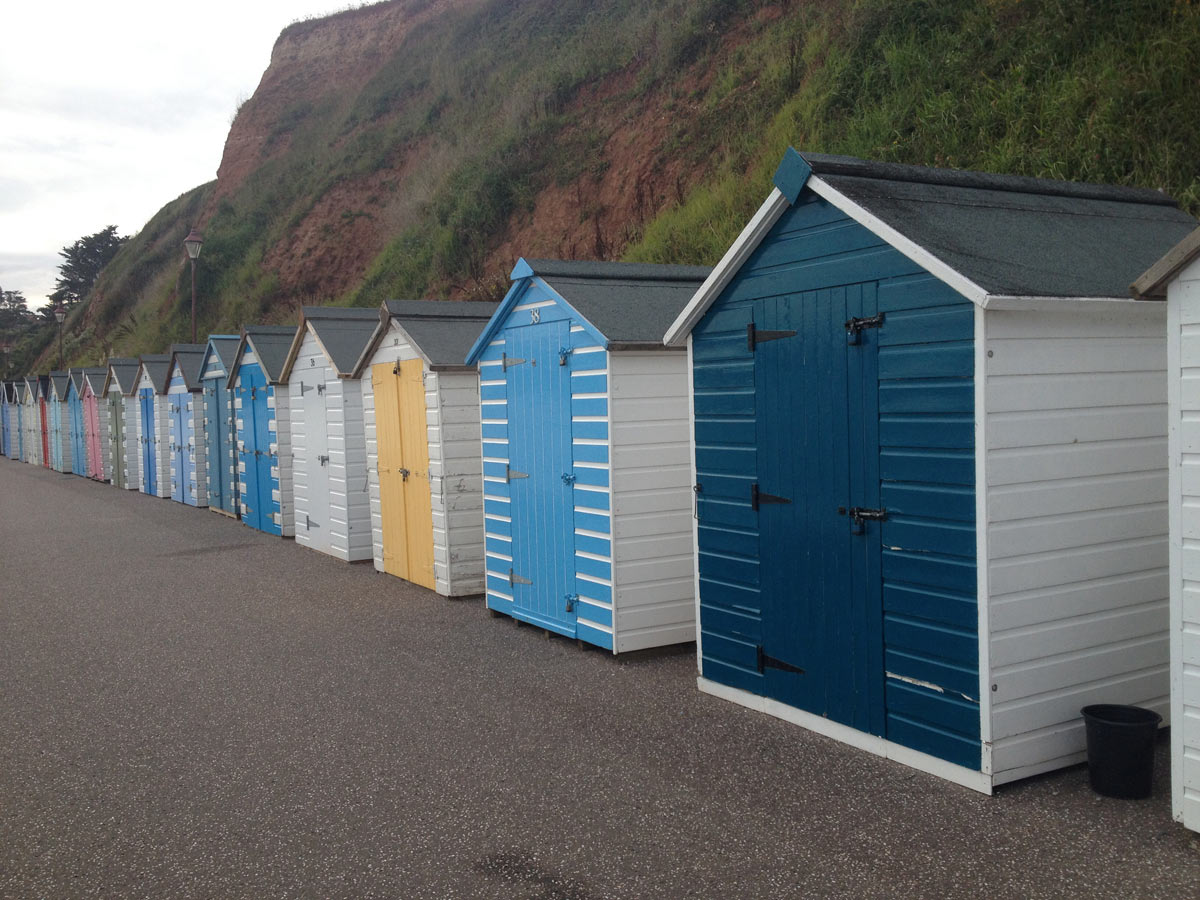 Beach huts at Seaton seafront